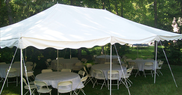 20 X 30 Pole Tent Package For Rent
